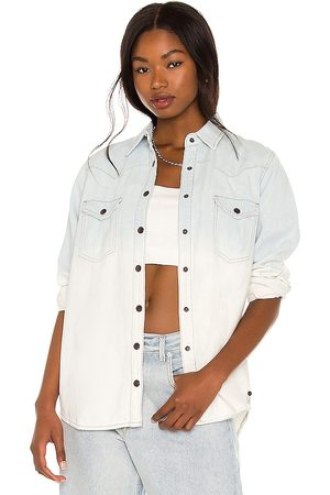 ONE TEASPOON Bleached Out Western Denim Shirt in