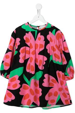 Stella McCartney Kids Spotty flower-print twill dress