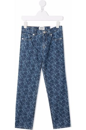 Kenzo Abstract-print slim-fit jeans