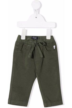 Il gufo Tie-fastening slim-cut trousers