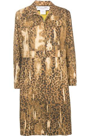 Dior Pre-owned leopard print coat