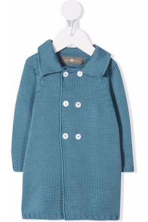 Little Bear Wool-knit double-breasted coat