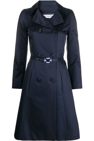 Christian Dior 2000 pre-owned double-breasted A-line coat