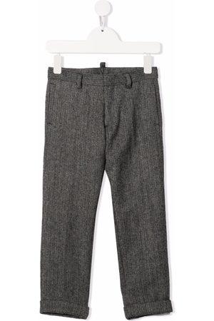 Dsquared2 Kids Chevron-knit wool trousers
