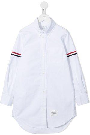 Thom Browne Oxford grosgrain armband shirtdress
