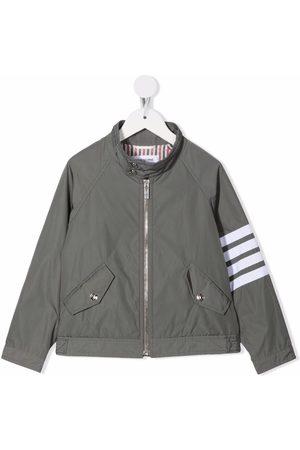 Thom Browne Kids 4-Bar tech gabardine jacket