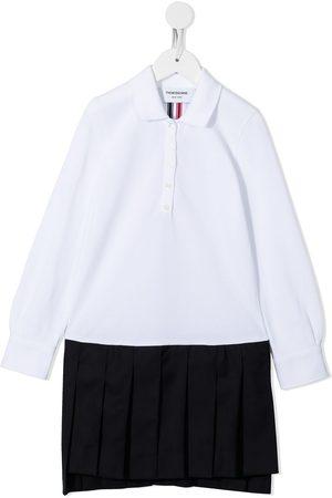 Thom Browne Kids Pique pleated tennis dress