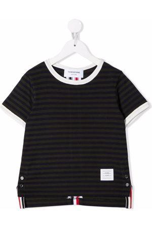 Thom Browne Kids Ringer stripe short-sleeve T-shirt