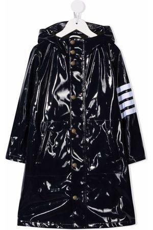 Thom Browne 4-Bar long hooded rain coat