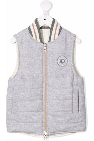 Brunello Cucinelli Logo-patch padded gillet