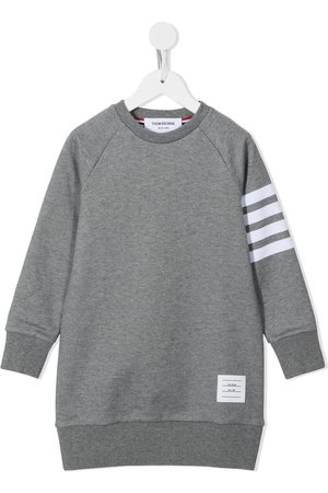 Thom Browne Loopback jersey 4-Bar sweatshirt dress