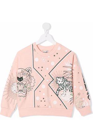 Kenzo Kids Graphic logo-print cotton sweatshirt