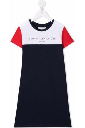 Tommy Hilfiger Junior Logo-print colour-block T-shirt dress