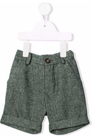Mariella Ferrari Chevron-knit knee-length shorts