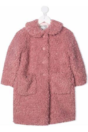 Il gufo Faux-shearling mid-length coat