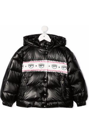 Chiara Ferragni Logo-print hooded padded jacket