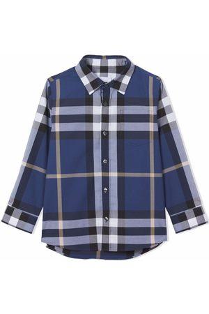 Burberry Kids Check-pattern long-sleeve shirt