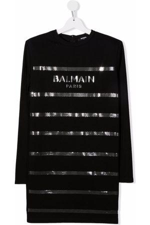 Balmain TEEN logo-print cotton dress
