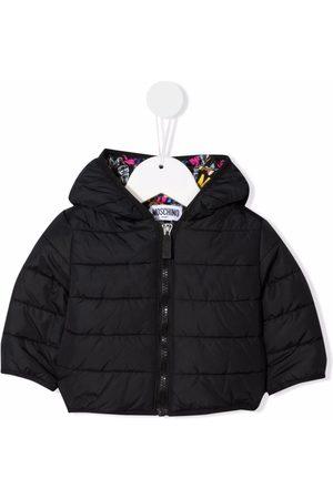 Moschino Logo-print hooded padded jacket