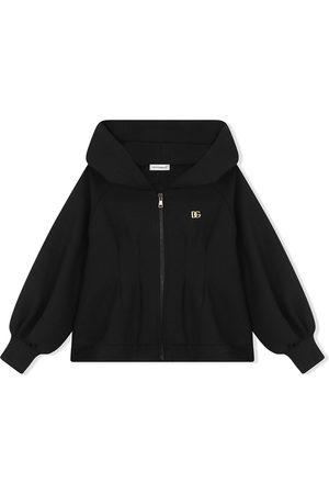 Dolce & Gabbana Kids Hooded zip-front sweatshirt