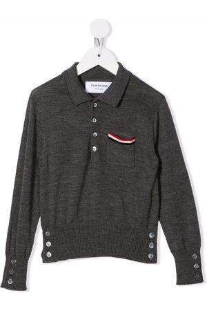 Thom Browne RWB stripe-detail polo shirt