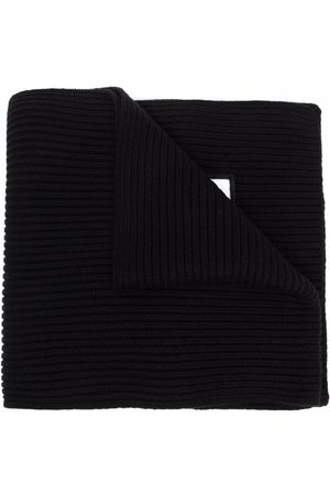 Dsquared2 Ribbed-knit embroidered-logo scarf