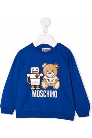 Moschino Kids Logo crew-neck sweatshirt