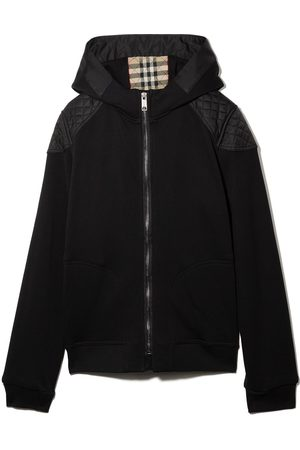 Burberry Kids TEEN quilted hooded jacket