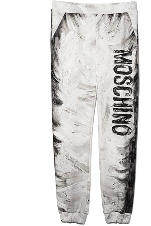 Moschino Kids TEEN Paintings cotton track pants