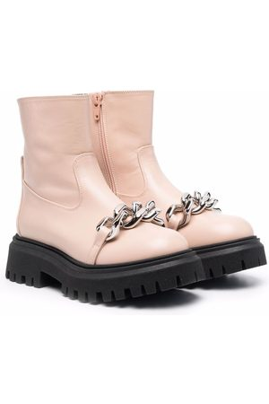 Nº21 Chain-link strap ankle boots