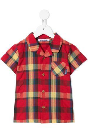 Familiar Check-print short-sleeve shirt