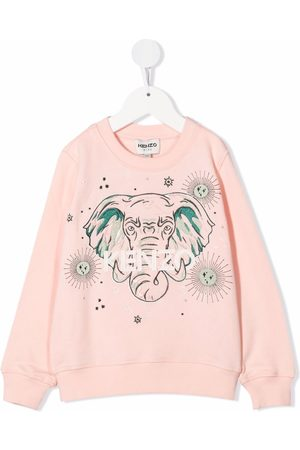 Kenzo Kids Elephant print sweatshirt