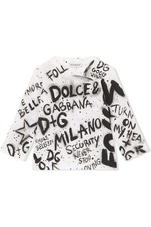 Dolce & Gabbana Graffiti-print cotton sweatshirt