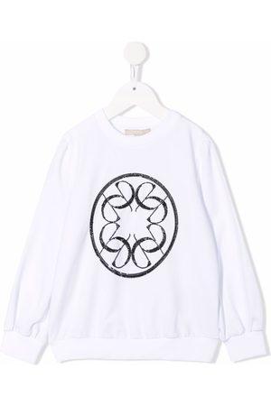 ELIE SAAB JUNIOR Beaded-logo crewneck sweatshirt