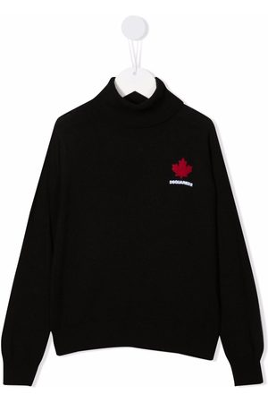 Dsquared2 Kids Logo-print knitted jumper