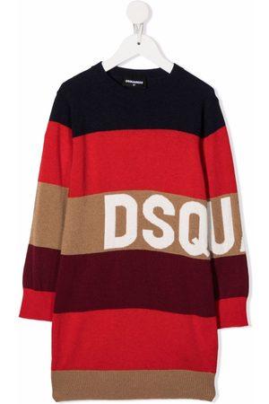 Dsquared2 Stripe-print midi dress