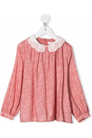 Chloé Kids Paisley-print cotton blouse