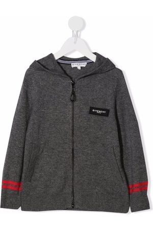 Givenchy Logo patch knitted hoodie