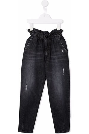 Dondup Paperbag-waist straight jeans