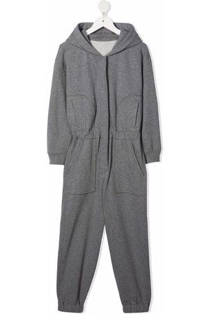 Brunello Cucinelli Elasticated waistband hooded jumpsuit