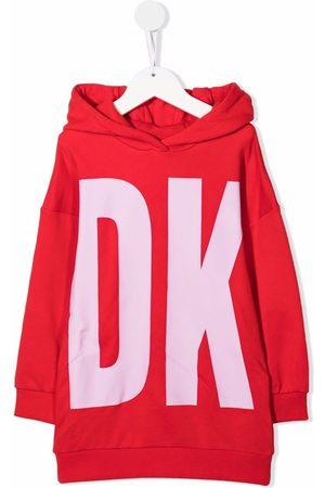 Dkny Kids Logo-print hooded dress