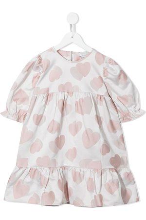 Stella McCartney Hearts jacquard tiered dress