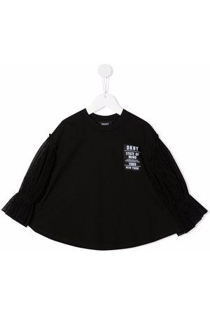 Dkny Kids Tulle-sleeved jumper