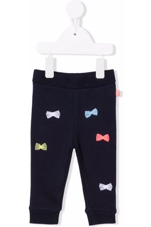 Billieblush Bow-detail cotton-blend leggings