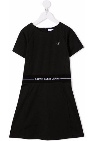 Calvin Klein Kids Meisjes Casual jurken - Logo-print waistband dress