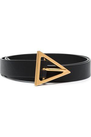 Bottega Veneta Dames Riemen - Triangle-buckle leather belt