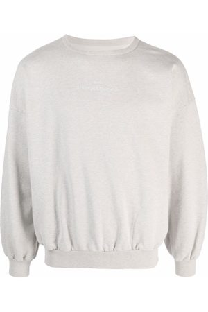 Maison Margiela Heren Sweaters - Logo-print crew neck sweatshirt