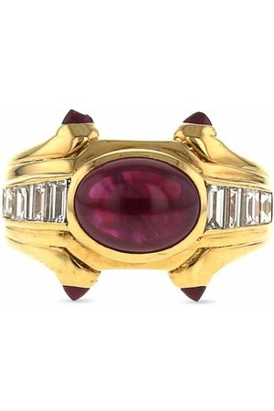 Bvlgari Pre-Owned 1980 18kt yellow diamond and ruby ring