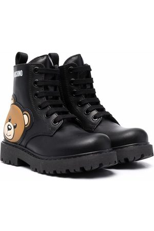 Moschino Kids Teddy Bear lace-up boots