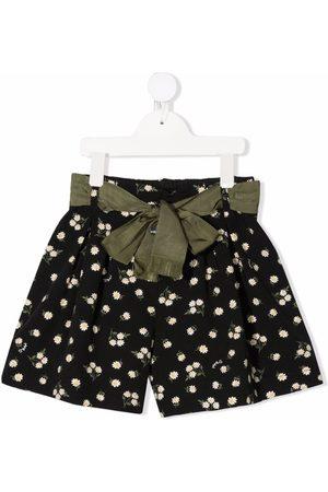 Monnalisa Floral-print belted shorts